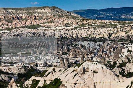 Übersicht über Göreme Tal, Kappadokien, Türkei