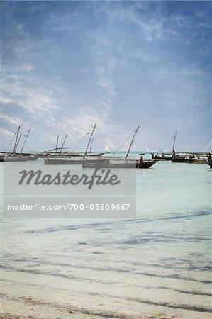 Dhows off Zanzibar Island, Tanzania