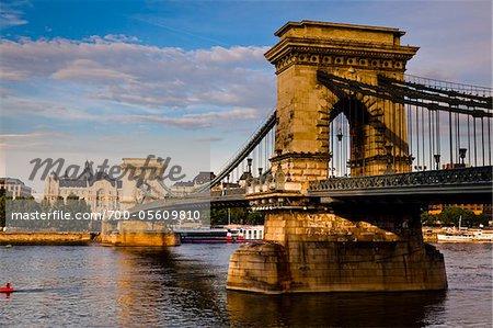 Pont à chaînes Széchenyi, Budapest, Hongrie