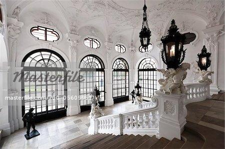 Interior of Belvedere Palace, Vienna, Austria