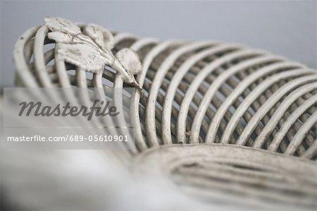 Dekorative Spirale mit Blatt