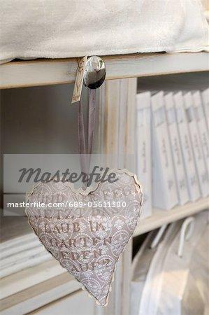 Cœur décoratif avec texte