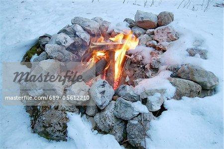 Le feu dans la neige