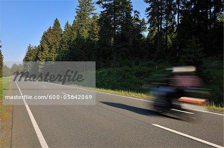 Route de campagne, Parc National du Harz, Harz, Sonnenberg, Basse-Saxe, Allemagne
