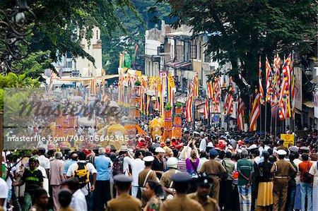 Tag Prozession, Esala Perahera Festival, Kandy, Sri Lanka