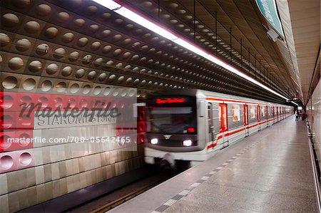 Staromestska Metro Station, Prague, Czech Republic
