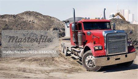 Transport Truck at Construction Site, Toronto, Ontario, Canada