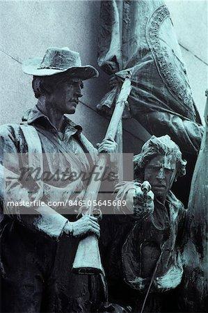 ANNÉES 1860 VIRGINIA CIVIL WAR MONUMENT 1863 BATAILLE DE GETTYSBURG EN PENNSYLVANIE USA