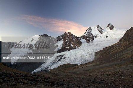 Condoriri Massif and glacier in the Cordillera Real, Andes Mountain, Bolivia, South America