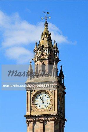 Irlande, Belfast, Albert memorial clock tower
