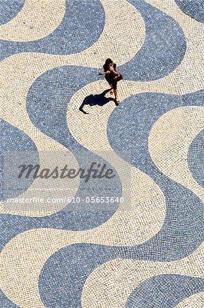 Portugal, Lisbon, compass rose