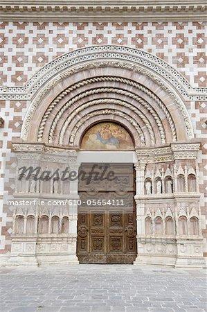 Italy, Abruzzo region, L'Aquila, basilique Santa Maria di Collemaggio