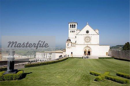 Italie, Basilique de région, Assisi, Umbria de Franscesco San