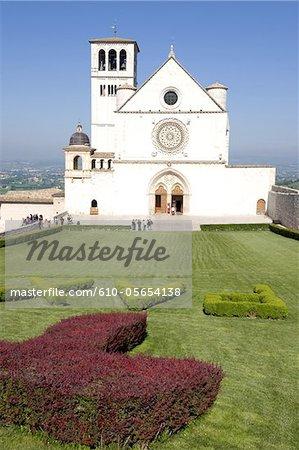 Italy, Umbria region, Assisi, basilica of San Franscesco