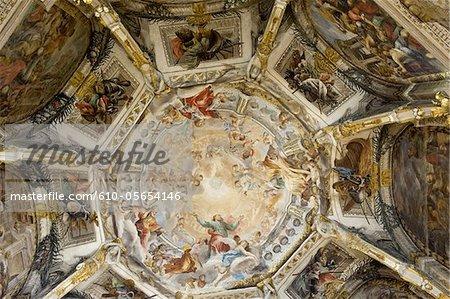 Italy, Umbria region, Perugia, church of Sant' Ercolano, fresco
