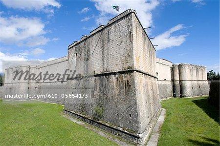 Italy, Abruzzo region, castle of L'Aquila