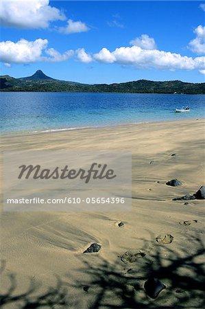 Mayotte, île de Bambo, la plage