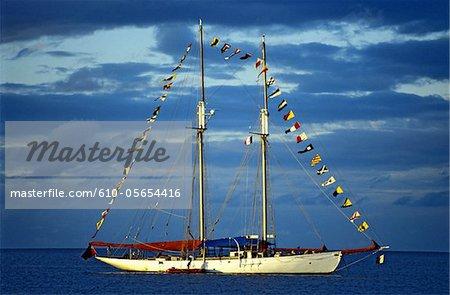 Mayotte, sailing boat