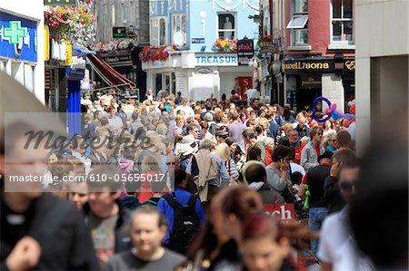 Ireland, Galway, crowd