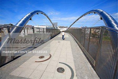 Royaume-Uni, pays de Galles, Hollyhead, pont