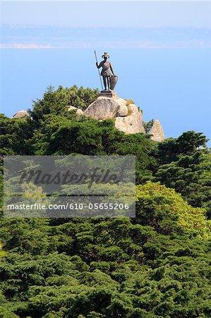 Portugal, Sintra municipality, national park, statue