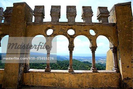 Portugal, Sintra municipality, Serra de Sintra, Pena National Palace
