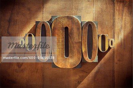 Typographie de 0
