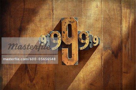Typographie de 9