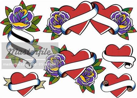 rose heart valentine element