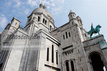 Church of the Sacre Coeur in Montmartre, Paris, France