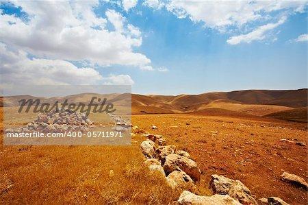 Big Stones In Sand Hills of Samaria, Israel