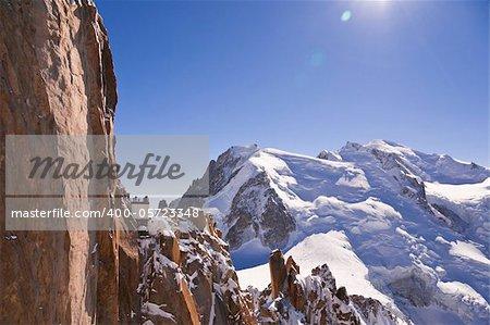 Massif Mont-Blanc, Aiguille du Midi. France. 3842 meters above sea level.