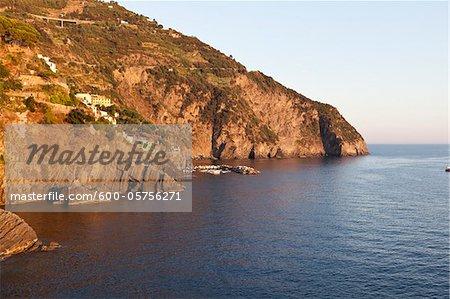 Par l'intermédiaire de l'amour, Riomaggiore, Cinque Terre, Province de La Spezia, Ligurie, Italie