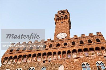 Palazzo Vecchio, Piazza della Signoria, Florence, Province de Florence, Toscane, Italie