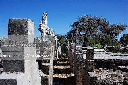 Cemetery in Fishing Village, Madagascar