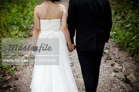 Illnesses von Braut und Bräutigam zu Fuß nach unten Weg, Toronto, Ontario, Kanada