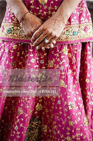 Close-Up of Sikh Bride