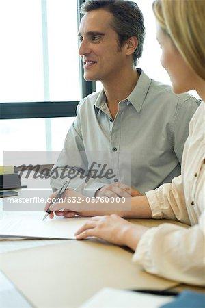 Associates in meeting