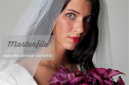 Studioaufnahme der Braut