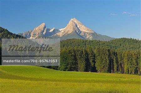 Mont Watzmann, Parc National de Berchtesgaden, Bavière, Allemagne