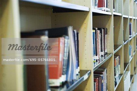 Étagères de bibliothèque