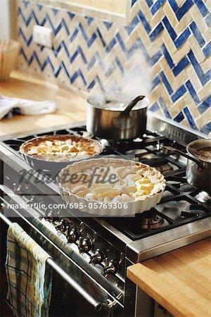 Tartes sur la cuisinière