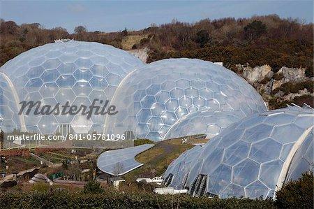 Biome auf Eden-Projekt in St. Austell, Cornwall, England, Vereinigtes Königreich, Europa