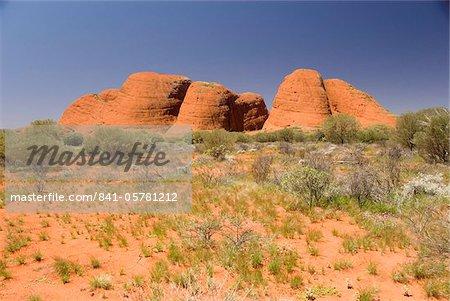 Kata Tjuta, The Olgas, monolithes de grès dur, près de Uluru (Ayers Rock), patrimoine mondial UNESCO, Northern Territory, Australie, Pacifique