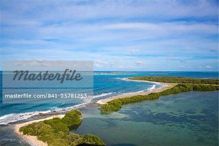 Blick auf Gran Roque, Nationalpark Archipel Los Roques, Venezuela, Südamerika