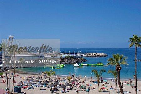 Playa Torviscas, Playa de las Americas, Tenerife, Canary Islands, Spain, Atlantic, Europe