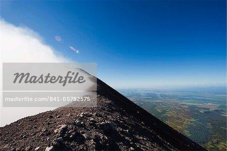 Steaming crater of Volcan de San Cristobal, 1745m, Nicaragua, Central America