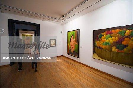 Travail d'art de peintures du Musée Botero, Fernando Botero, Bogota, Colombie, Amérique du Sud