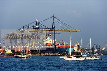 Harbour area, Cartagena (Colombie), en Amérique du Sud