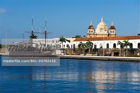 Quartier du port, la vieille ville, patrimoine mondial de l'UNESCO, Cartagena, Colombie, Amérique du Sud